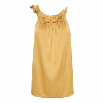 Karmamia Golden Yellow Ruffle Tie Top 90022