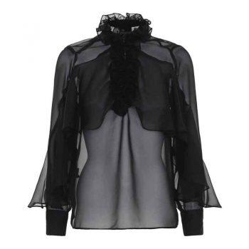Karmamia Paradise Black Chiffon Shirt