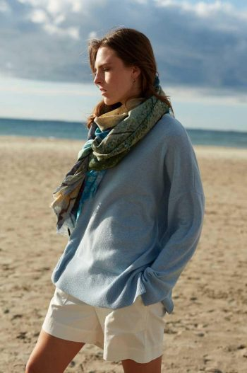 Katrin Uri Benedict Loose Pullover Light Blue
