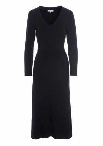 Katrin Uri Jolie V-Neck Dress Black