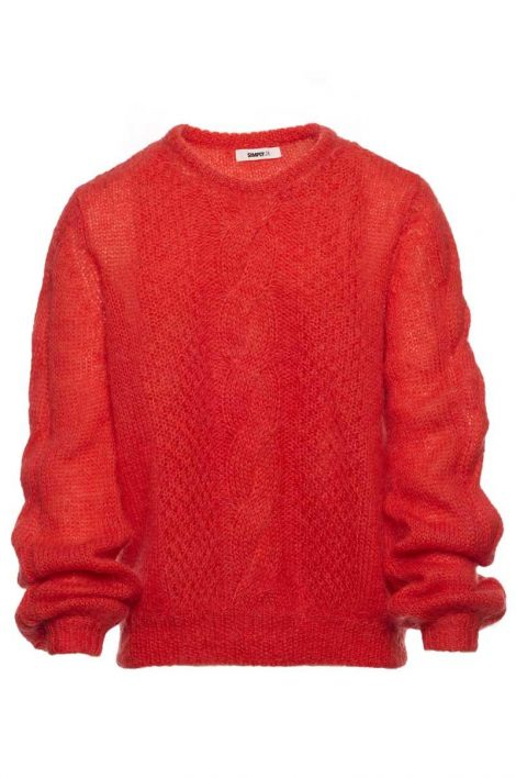 Katrin Uri Port Cable Pullover Summer Red 1810310