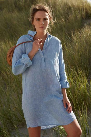 Katrin Uri Ultimate Linen Dress Light Blue