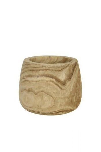 L&L Pot Deco Colmar Wood Naturel Ø25x21cm 6287184