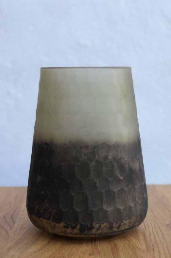 L&L Tealight Ø17x23 cm Celino Matted Grey Half Black 7700927