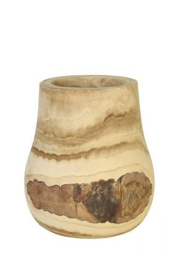 L&L Pot Deco Barjac Wood Naturel Ø28x34cm 6287484
