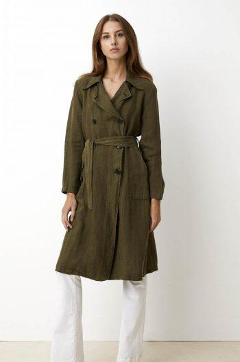 Lois Bonnie M Linen Military Jacket Army