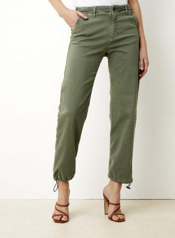 Lois Caitlin Recycled Twill Bukse Moss