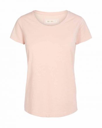 Mos Mosh Arden O- Neck Tee Soft Rose 123260