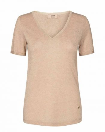 Mos Mosh Casio V-Neck Tee SS Gold