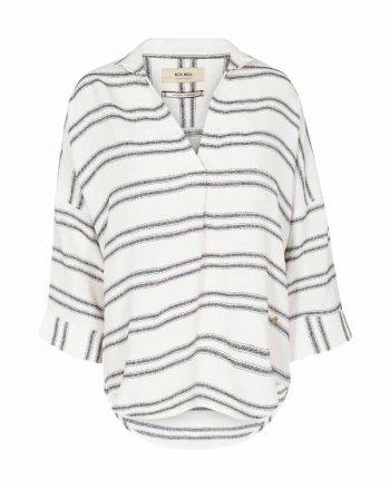Mos Mosh Nava Stripe Blouse White 125660