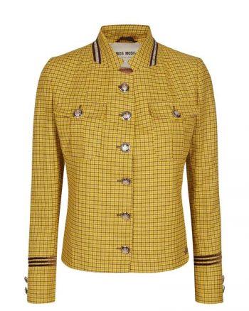 Mos Mosh Selby Check Jacket Lemon 127130