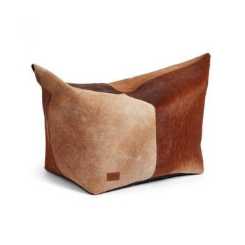 NC Pouf of Prem Quality Calf Leather 92x38x40 cm Brown