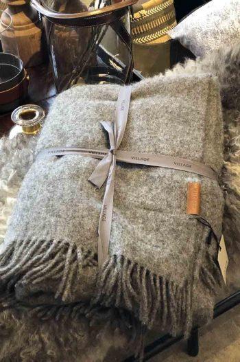 On Village Wool Blanket Dark Grey 130x190 v06-002