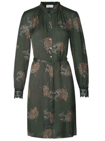Rosemunde Dress ls Copper Flower Bouquet Print 6682-9349