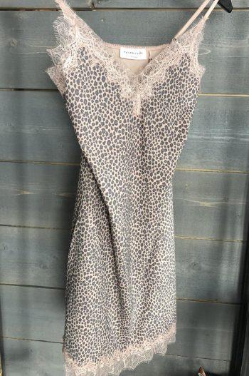 Rosemunde Strap Dress Vintage Rose Leopard Print 4218