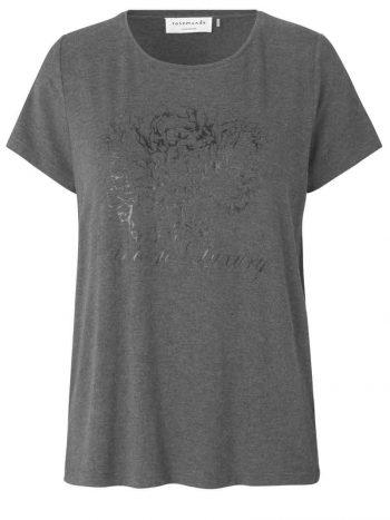 Rosemunde T-Shirt SS Grey Vintage Luxury Print 4716-9391