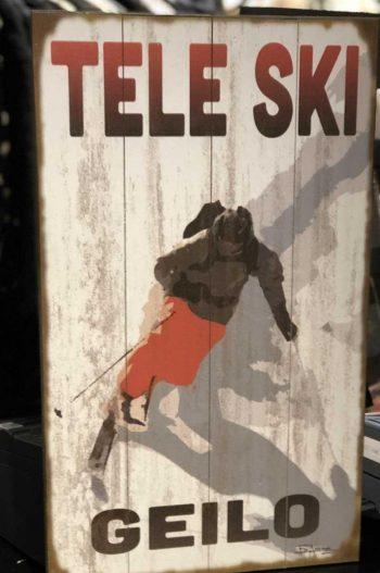 VD Bilde 1534 Tele Ski 35x61cm